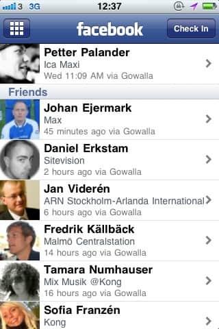 Facebook Lugares