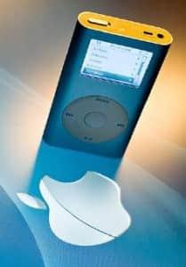 iPod para escuchar música y manejar un robot