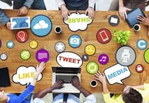 redes sociales compania