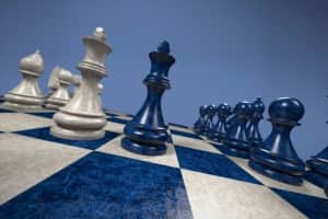 chess: black versus white