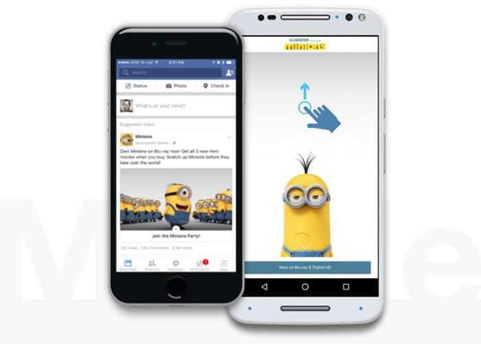 Facebook Canvas, innovadora experiencia publicitaria a pantalla completa