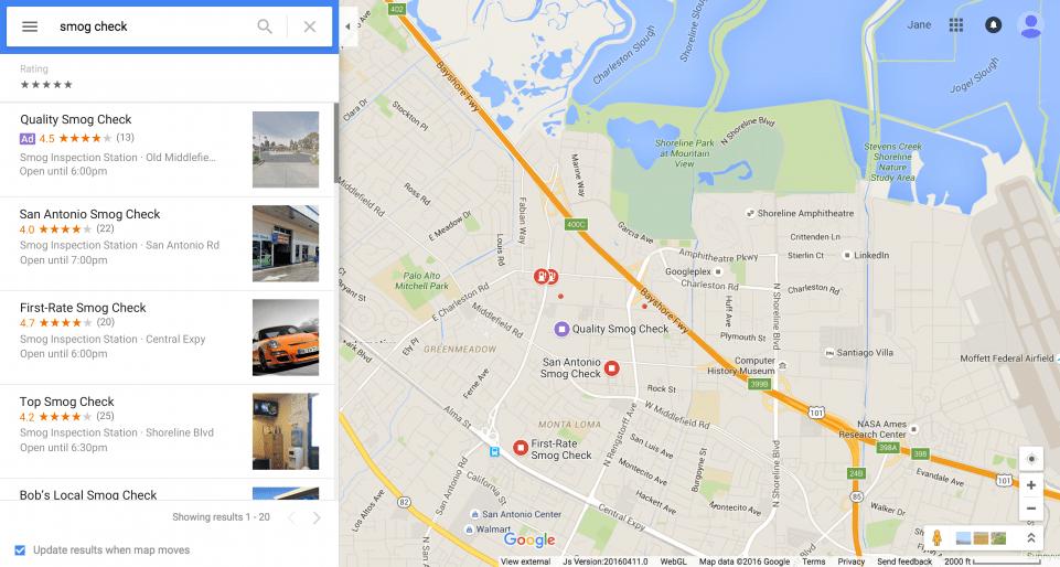 Anuncios locales en Google Maps
