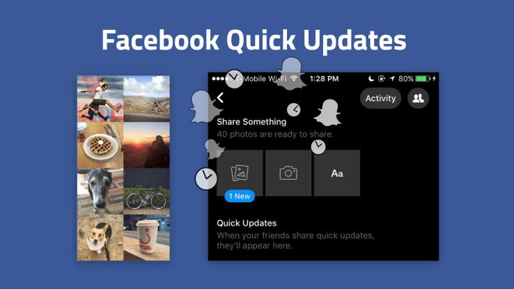 Quick Updates de Facebook, un nuevo intento por ganar seguidores
