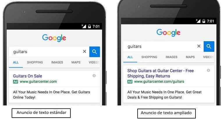 El marketing móvil se enfrenta a nuevos cambios en los anuncios de Google